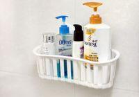 Wholesale 1Pcs Bathroom Storage Rack Holder Kitchen Cozinha Shelf Shelving Vacuum Suction Cups Bathroom Accessories