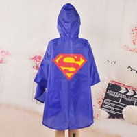 Wholesale New Kids Rain Coat children Raincoat Rainwear Rainsuit Kids Waterproof Superhero Raincoat colors