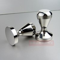 Wholesale All stainless steel one piece tamp pressure mm coffee powder is pressed powder hammer coffee bar utensils