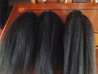 Wholesale 7A Brazilian Kinky Straight Hair Weaves Virgin Human Hair Extension Hair Bundles Italian Coarse Yaki Virgin Hair