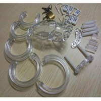 cock ring - Exquisite sex toys Cock Ring Medical Plastic Penis lock CB6000S male cock rings Chastity Device Cock cage Bondage dildo Adult Sex Products