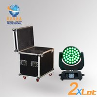 Wholesale 2X New W RGBAW in Zoom LED Moving Head Wash With in1 Road Case Touch Screen DMX IN Out Powercon V