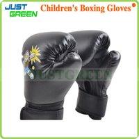 kids boxing gloves - PU Leather Boxing Punching Bag Training Gloves Sanda Mitten Fitness Training Equipment For Children Gift Kid