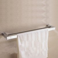 bathroom shelf with towel bar - CLOUD POWER0 Inches Bathroom Double Towel Shelf with Chrome Double Towel Rack Bathroom Accessories with Brass