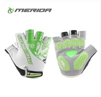 best biking gloves - Merida white green half finger gloves mountain biking gloves outdoor wear cheap cycle glove best team edition
