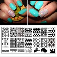 art geometric shapes - A bunch of fantastic geometric shapes Newest designs salon express nail art stamping kit nail tool