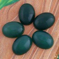 Cuentas de ónix verde Baratos-15X20mm Rhodonita verde ágata ónix etc. Natural piedra Oval cabujón semi-preciosas perlas DIY joyería fabricación de accesorios 10pcs