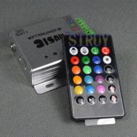 Cheap New design IR Music Controller Two Output For 5050 RGB LED Strip Light or RGB Spot Light 12-24V
