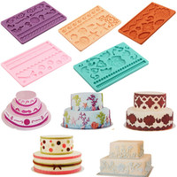 Wholesale 14 Models Silicone Baking Tools Mold Mould Fondant Cake Embossing Gum Paste Decorating