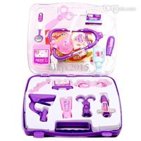 Wholesale Portable Simulation Doctors or Nurses Role Play Game Medical Doctor s Toys Medicine Cabinet Sets for Children Kids Free