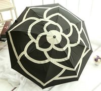 Wholesale Hot sale New style Full automatic umbrella Camellia folding sunshade umbrella sunny and rain umbrellas