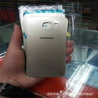 Wholesale Battery Cover Housing Case Faceplates For Samsung Galaxy S6 S6 Edge G920 G9208 G9209 with original logo back cover Free DHL