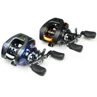 Wholesale Blue Black Baitcasting left right Fishing Reel R L Hand Spinning lure Fishing Tackle Low Profile