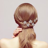 butterfly in flower - Shinning Butterfly Hair U Clips Mini Rhinestone Hair Accessories Bridal Jewelry Women Party Supplies Jewelry Decoration In Stock