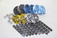 Handlebars bicycle grip tape - road bicycle grip tape five color options for handlebar wrap including end plug and tape ending sticker SH121