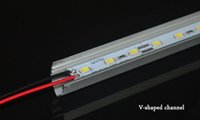 Wholesale SMD5630 led bar lights volt led lights LEDs M With V shaped Aluminum channel