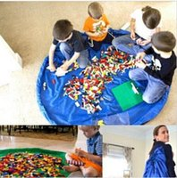 Wholesale portable kids toy storage bag CM Portable Play Mat Toy Storage Bags For Kids Children Nylon kids Playing Mat Blanket DDA2783