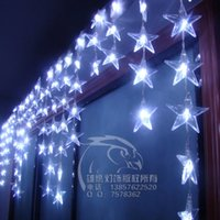 bead string partitioning - For dec oration wall decoration entranceway partition decoration five pointed star bead led string of lights