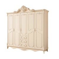 solid wood wardrobes - French Carved Wood Wardrobe combination of five European bedroom wood Wardrobe closet