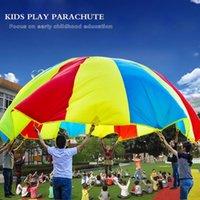 Wholesale 2m Child Kid Sports Development Outdoor Rainbow Umbrella Parachute Toy Jump sack Ballute Play Parachute