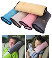 pink car seat covers - New Arrive Universal Car Seat Cover Safety Belts Pillow Children Strap Shoulder Supply Cushion Pillows Protection Interior Car Styling