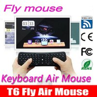 Wholesale 10p T6 Wireless Keyboard Mini Air Mouse Ghz Gyroscope Remote Control Combo For M8S M8 MXQ CS918 MXIII Android TV Box Media Player PC