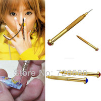 acrylic makers - Hot Sale Christmas Gifts Nail Art Hand Dangle Drill Hole Maker Dotting Pen Uv Gel Acrylic Tip Piercing Tool