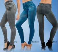 leggings with pockets - slim jeggings jeans leggings for women fashion women leggings blue black grey by DHL winter wear with real pocket at hip