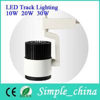 Wholesale W LED Track light W Store Shopping mail Market Tracklights AC85v v White base Led Tracklight Spotlight Warranty years