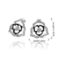 Wholesale 2013 New Fashion Fine zircon Earrings for Women Party Birthday Earring Jewelry High Quality Fashion Jewelry E545