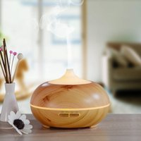 Wholesale 300ml Wood Grain Aroma Diffuser Wooden LED Aromatherapy Essential Oil Diffuser with Timer Settings Touch Button Colors Changing Light