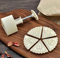 best cake decorators - 2015 Best Selling Moon Cake Triangle Flower Mold Press Texture Dessert Decoration Mold Stamp Tool Set High Quality