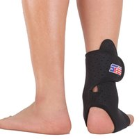 Wholesale Breathable Adjustable Sports Elastic Badminton Ankle Foot Brace Support Wrap Basketball Football Ankle Protector SX662 Black