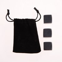 Wholesale 3PCS Sipping Stones Chilling Rocks Soapstone for Whisky Wine Drinks Set