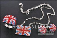 olympic flag - 2012 Union Jack UK Flag Pendant Chain Necklace Earrings Rings mm Britain London Souvenir Olympic