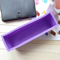 Wholesale Best Selling Rectangle Sicione Soap Mold Handmade DIY Bread Chocolate Jelly Pudding Cup Bakeware Cupcake Cake Mould JE0114 Salebags