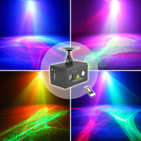 Wholesale New Remote RG Aurora Laser Light Professional Equipment Sky RGB LED Stage Lights Party Disco DJ Home Lighting LL A200RG