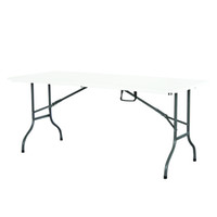 Wholesale 1x183cm Strong Stainless steel face leg Folding table for outdoor Picnic party Home dinner tea coffee table furniture