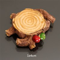 Wholesale Hot Selling Small Tree Stump for Miniature Garden Ornament DIY Mushroom Craft Pot Fairy Dollhouse Party Decoration x4cm