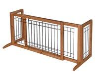 Wholesale Adjustable Indoor Solid Wood Construction Pet Fence Gate Free Standing Dog Gate