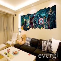 3d movies - 3D Movie The Avengers Removable Vinyl Wall Sticker Decals Kids Nursery Room Decor Sticker