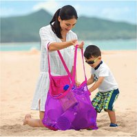 beach towel storage - 2015 kids Beach bags waterproof storage bag baby beach mesh bag Beach Toys organizer Clothes Towel Bags baby toy collection bag BBA3372