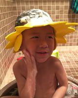 Wholesale Adjustable Baby Bath Shower Caps Kids Shower cap with Waterproof Earmuffs Children Shampoo Cap Haircut Shield