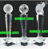 crystal awards and trophies - Custom made crystal trophy Football trophy Film and Television Award contect our