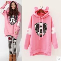 leggings pregnant - 2016 Big Girls Set Pregnant Woman Mickey Mouse Hoodie Loose Sweatershirt Skinny Leggings Suit pc Outfits Women Sets Lady K5925