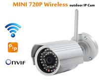 Wholesale Onvif IP camera WIFI Megapixel p HD Outdoor Wireless Digital Security CCTV IP Cam IR Infrared SD Card Slot P2P Bullet Kamera