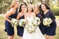 best one shoulder dress - The Best Selling Fashion Bridesmaid Dresses Sheath One Shoulder Long Sleeve Backless Knee Length Lace Sash Bridesmaid Dresses