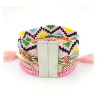 beaded braceletes - Summer Beach Hipanema Braceletes France Mujer Layered Bohemian Bracelet Pulseras Hombre Hipanema Cuff Bracelet