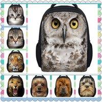 bagpacks for boys - 2015 Hot Zoo Animal D Printing Kindergarten School Bagpacks for Kids Tiger Head Toddler Kids School Bags Boys Owl Schoolbag