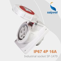 Wholesale Saipwell ip67 Industrial Plug Socket Hole Wall Socket iec Power Socket SP High Quality